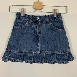 Gymboree Ruffle Denim Skirt Size 7